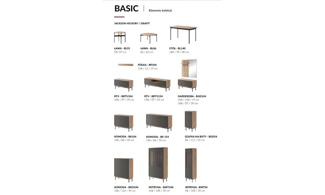 Brązowo-grafitowa ława BASIC BL86