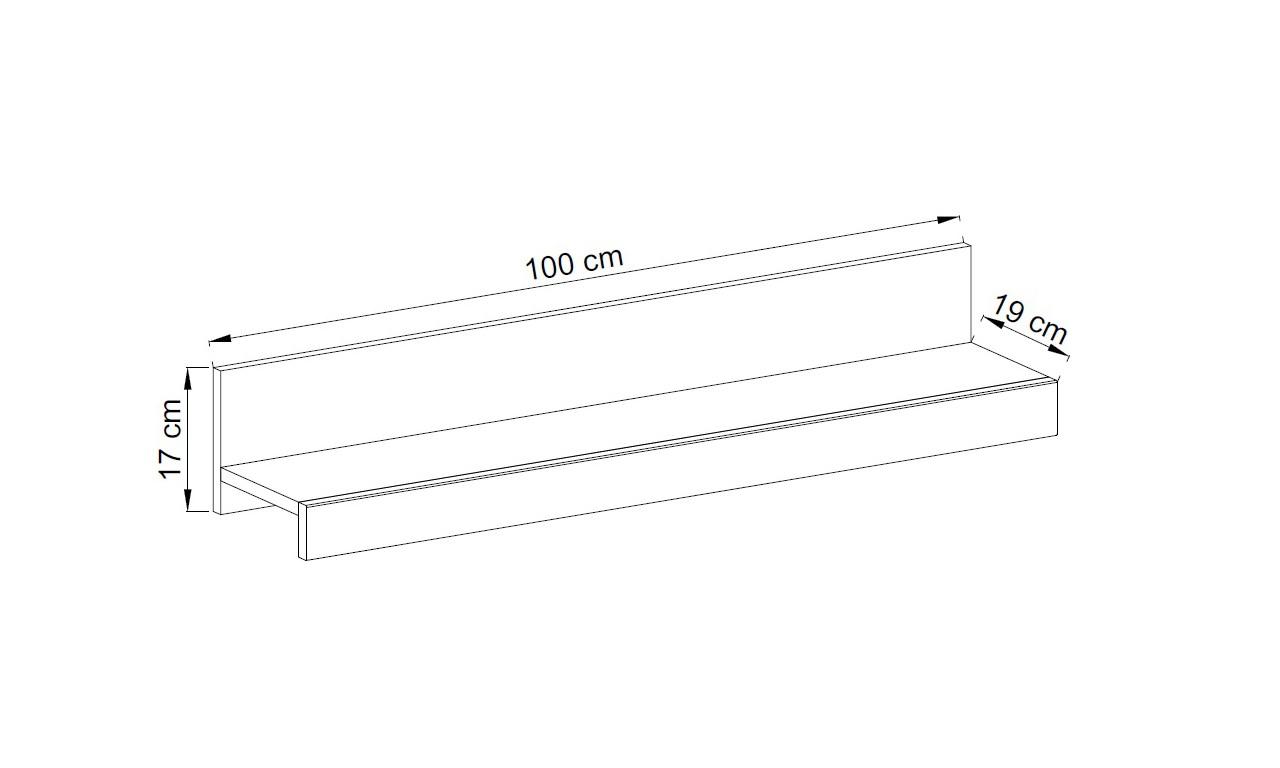 Białobrązowy stolik RTV w stylu nowoczesnym Falco FRTV100 + półka P100