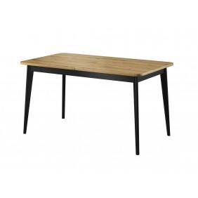Brązowy, rozkładany stół (140-180cm) w stylu skandynawskim Nordi PST140