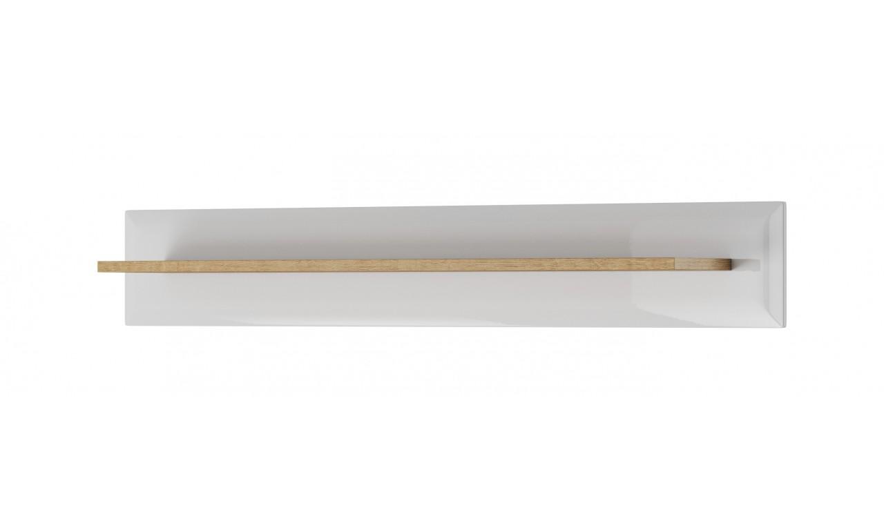Biała półka w stylu skandynawskim Nordi P107