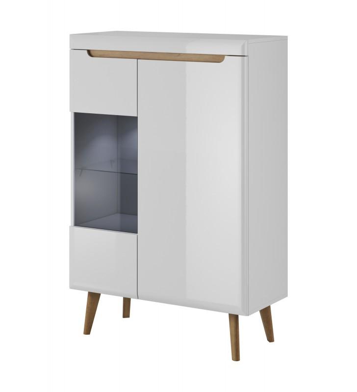 Biała witryna w stylu skandynawskim Nordi NWT90