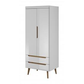 Biała szafa w stylu skandynawskim Nordi NSZ80