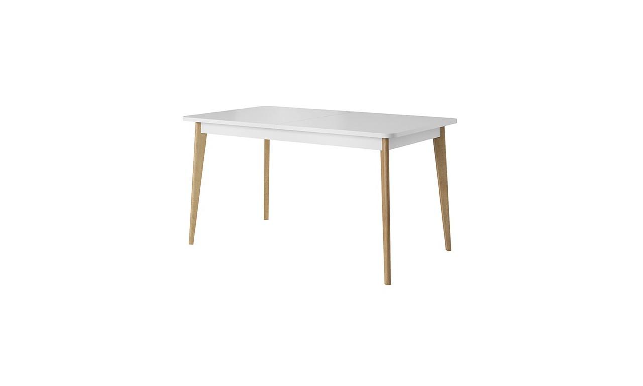 Biały, rozkładany stół (140-180 cm) w stylu skandynawskim NORDI PST140