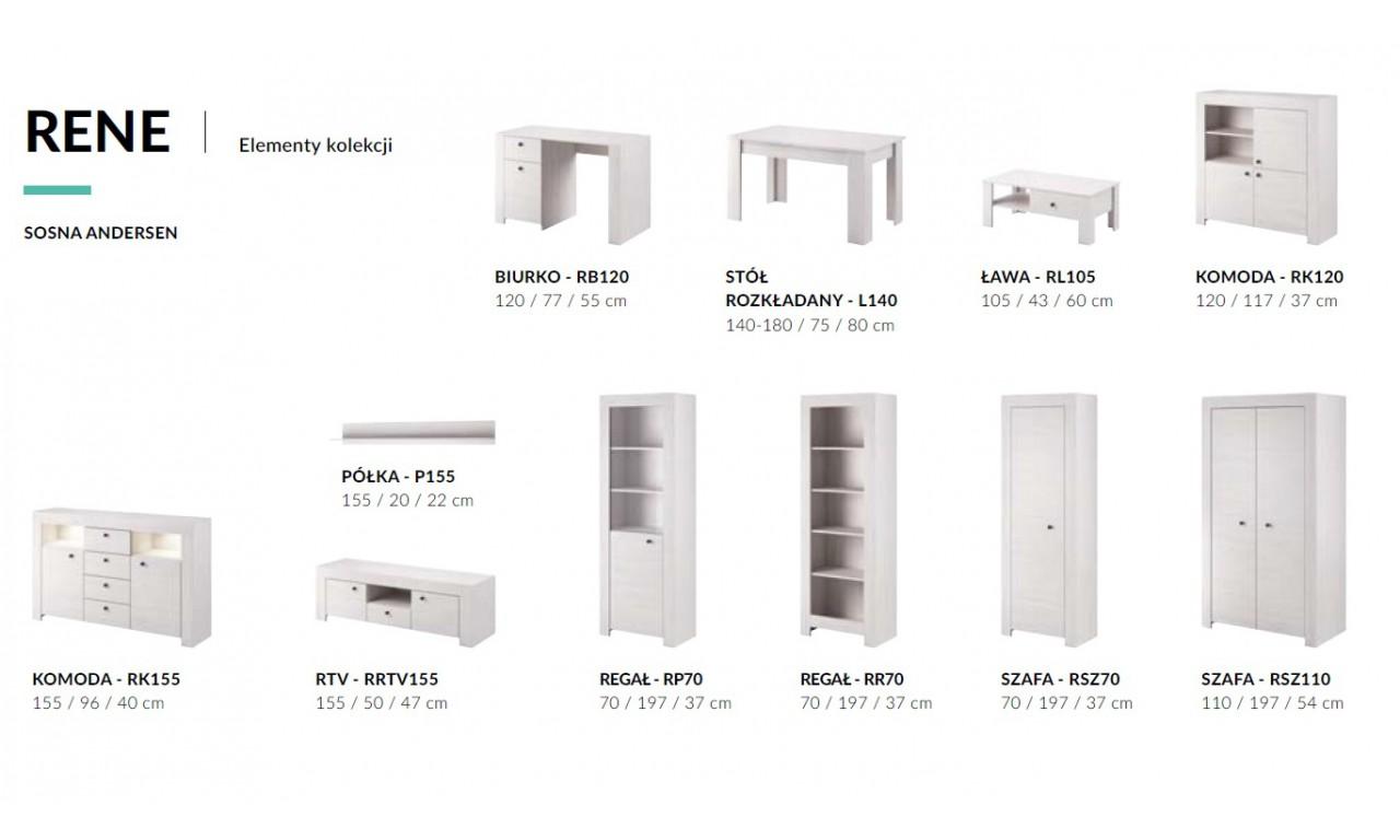 Biała półka w stylu klasycznym Rene P155