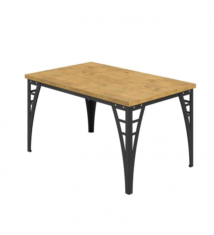 Prostokątny, brązowy stół (140x90) Barto - ostatnia sztuka!!!