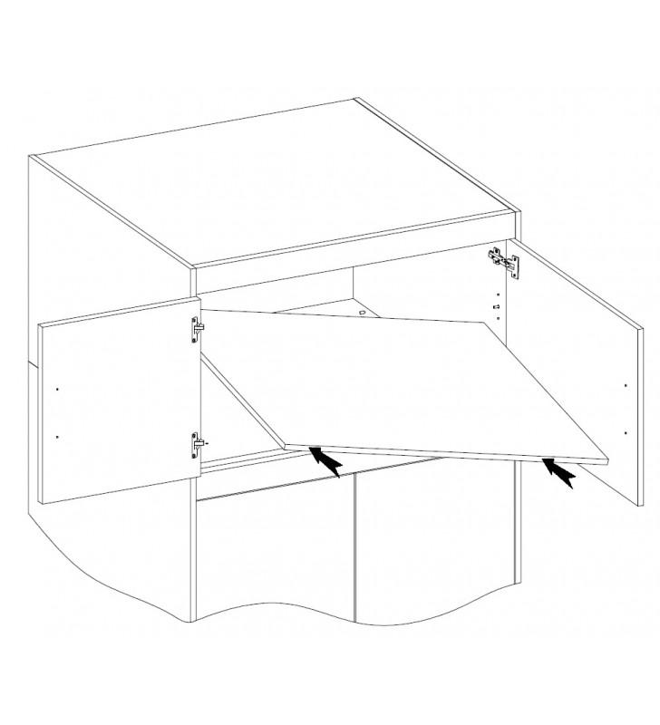 Biała szafa dwudrzwiowa ELENA 2D z dostępną nadstawką
