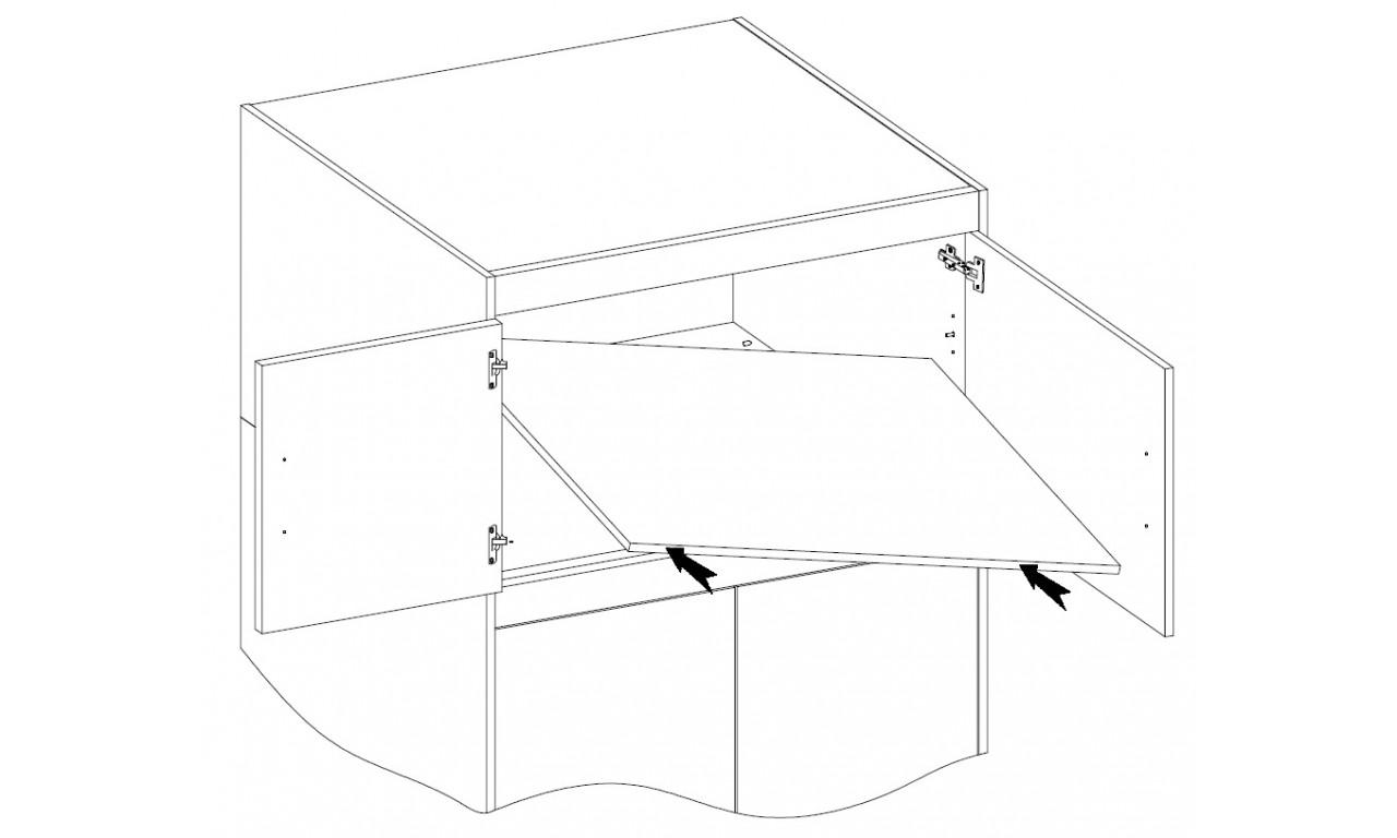 Jasnobrązowa szafa dwudrzwiowa ELENA 2D z dostępną nadstawką