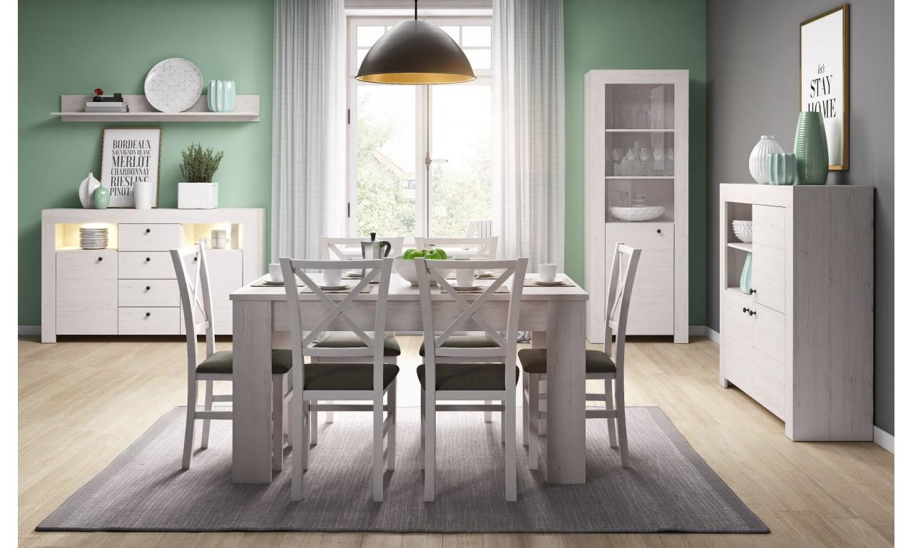 Zestaw białych mebli do jadalni w stylu klasycznym Rene 2
