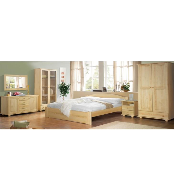 Klasyczny stolik nocny z drewna sosnowego OLIWIER należący do kolekcji CLASSIC