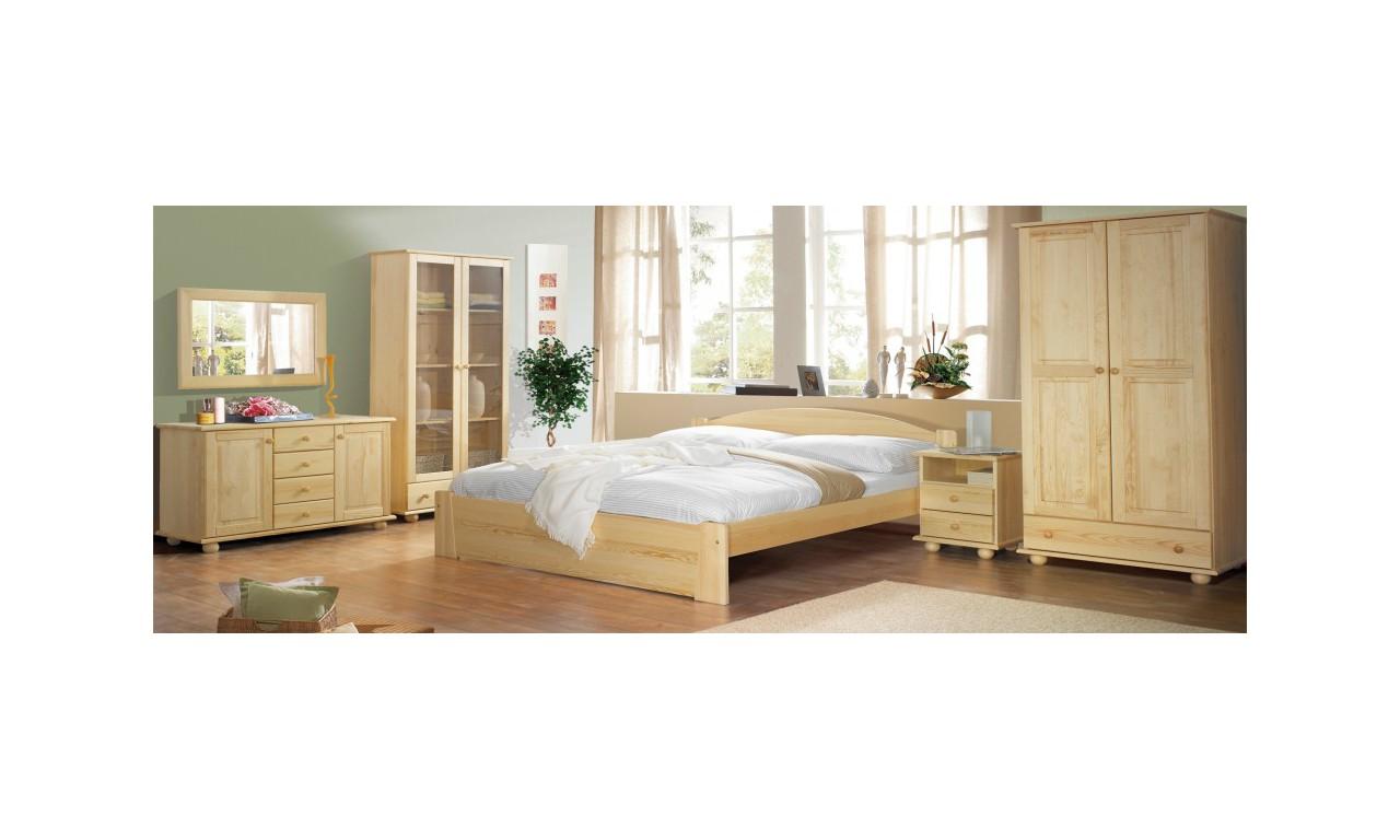Klasyczny stolik nocny z drewna sosnowego PASCAL należący do kolekcji CLASSIC
