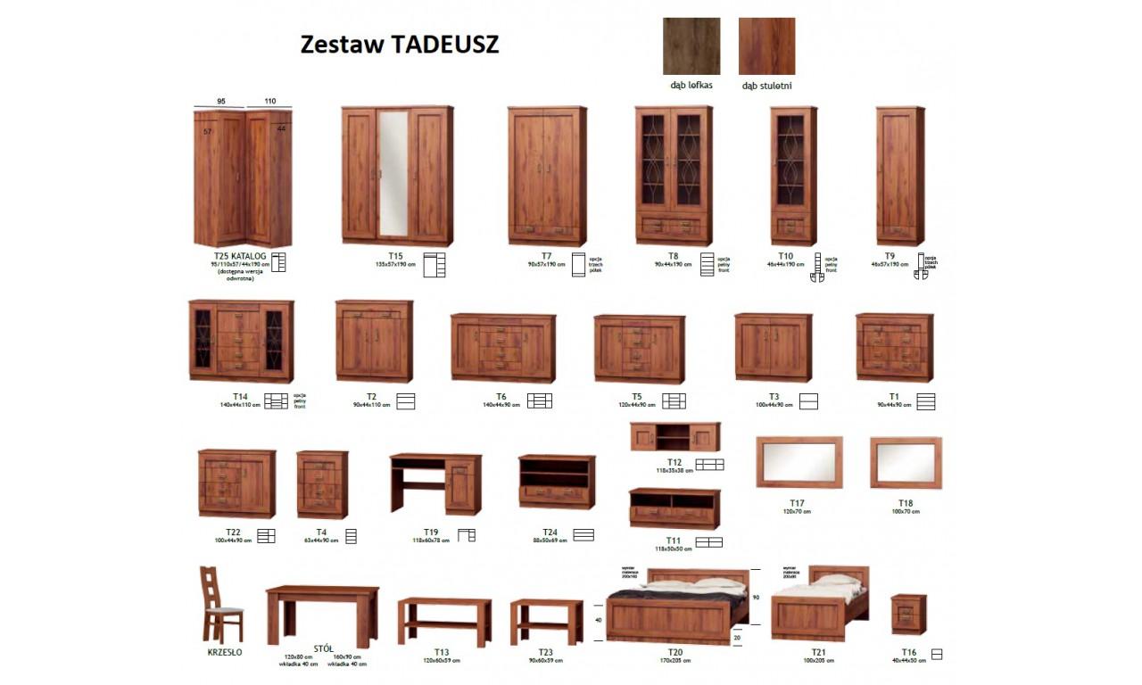 Szeroka, brązowa komoda w stylu klasycznym Tadeusz T-6