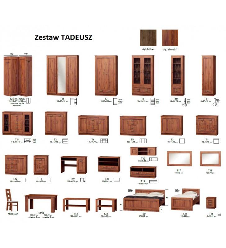 """Brązowa szafa narożna w stylu klasycznym typu """"L"""" Tadeusz T-25"""
