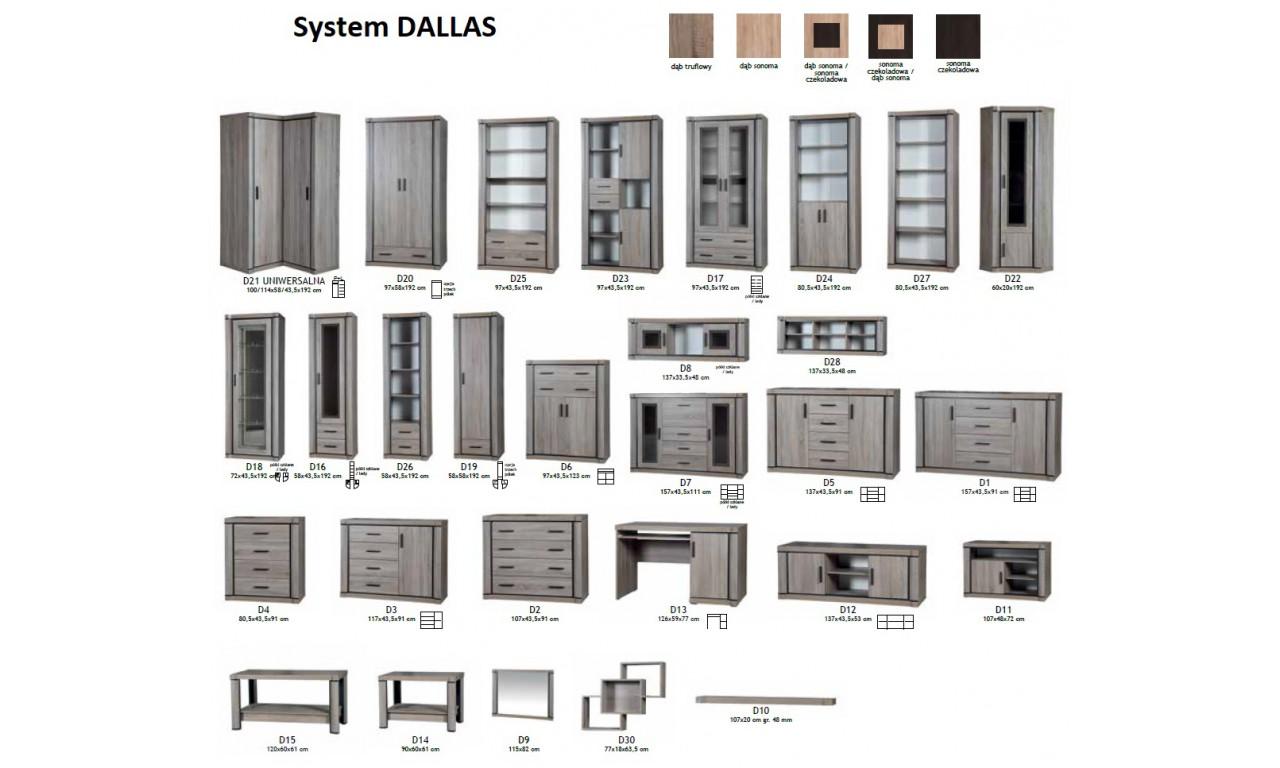 Zestaw brązowych mebli w stylu klasycznym do salonu Dallas 6
