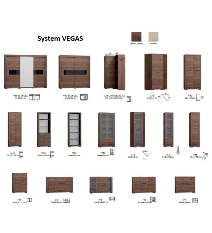 Witryna narożna w stylu nowoczesnym Vegas V-14