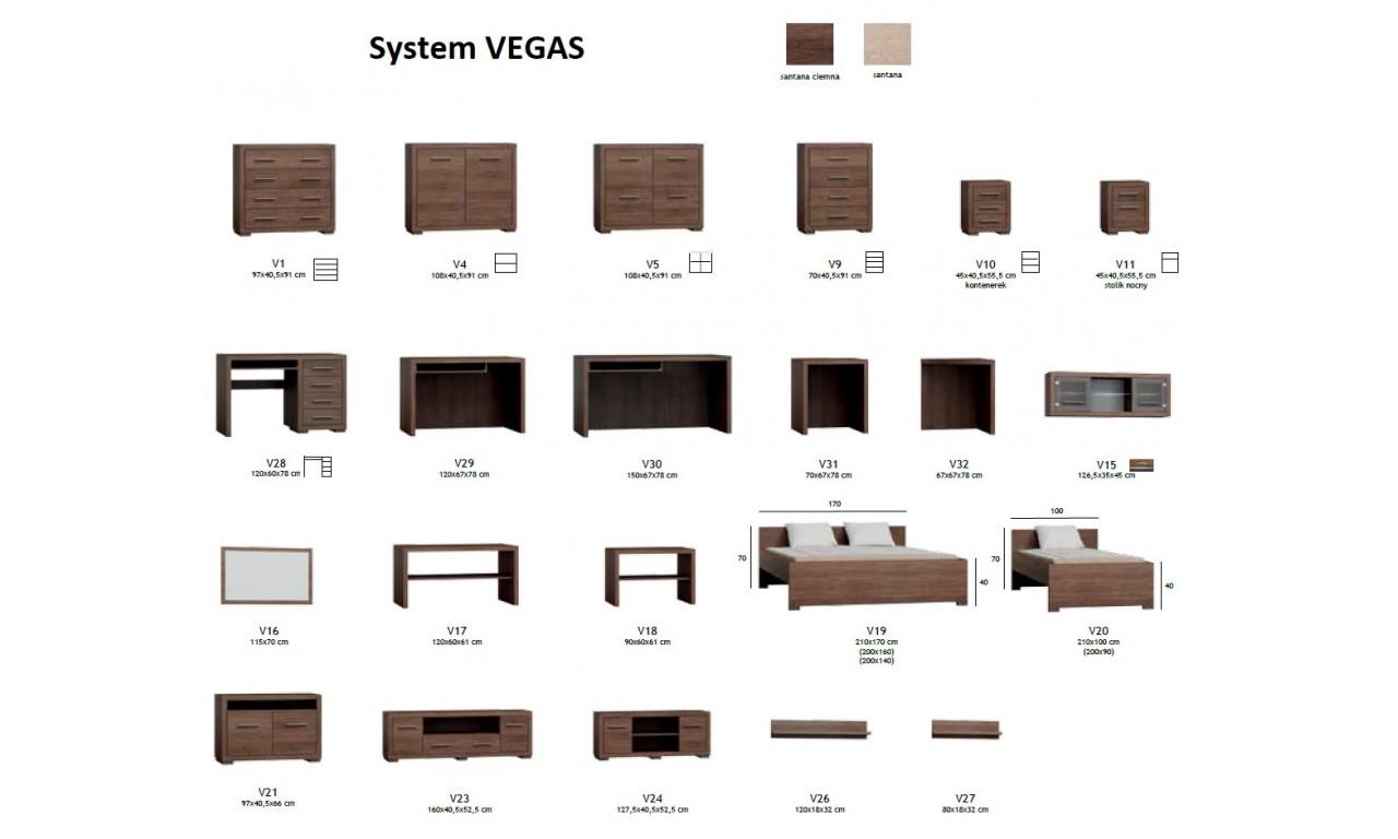 Bardzo duża szafa przesuwna z systemem sevroll w stylu nowoczesnym Vegas V-41