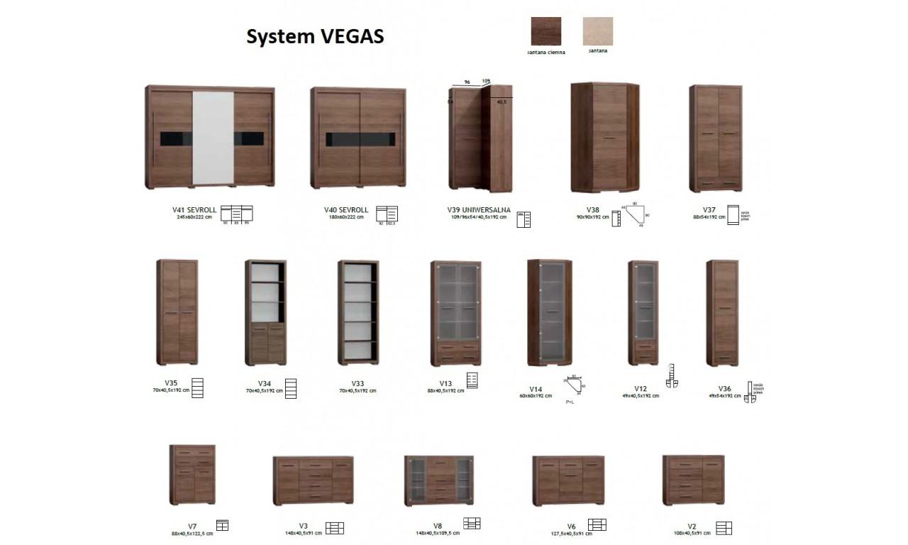 "Szafa narożna typu ""L"" w stylu nowoczesnym Vegas V-39"