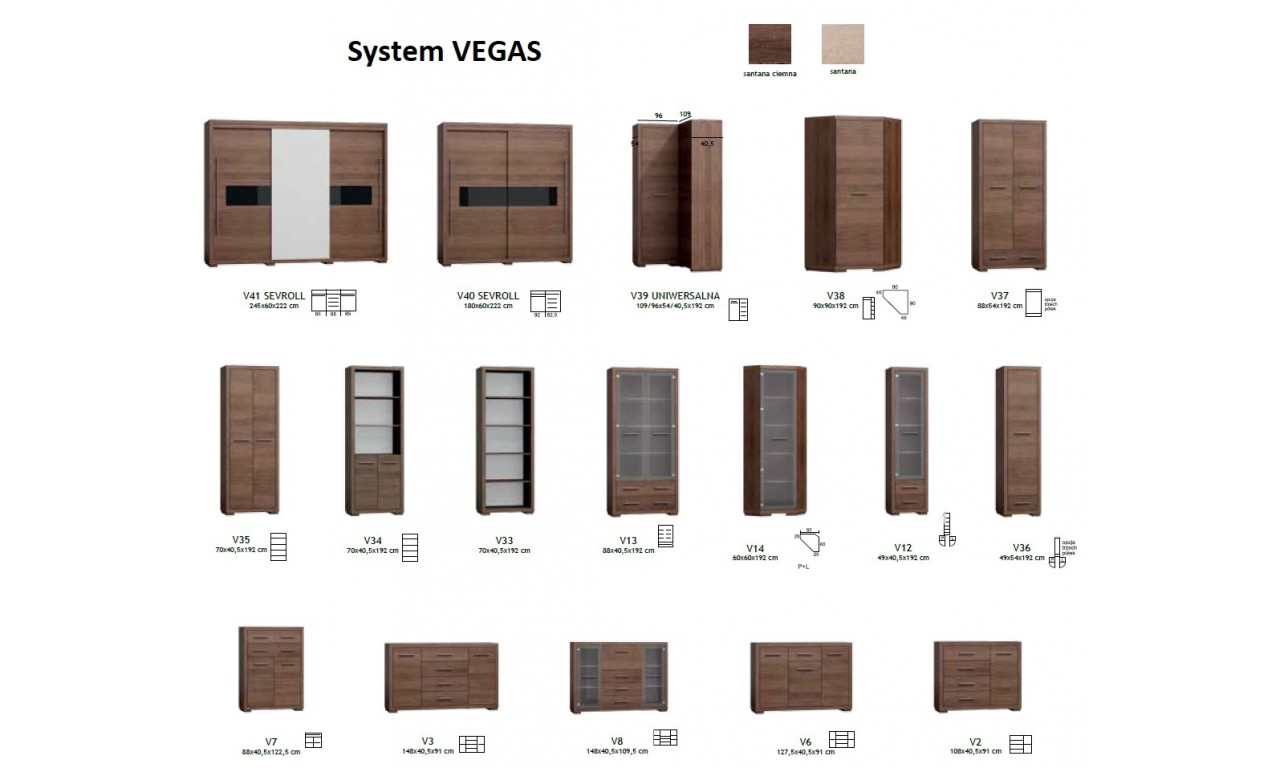 Biurko w stylu nowoczesnym Vegas V-29