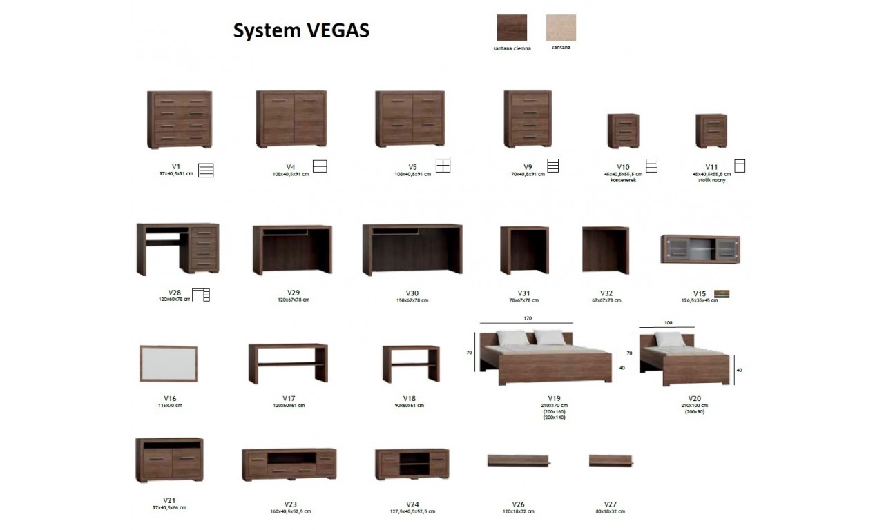 Lustro w brązowej ramie Vegas V-16