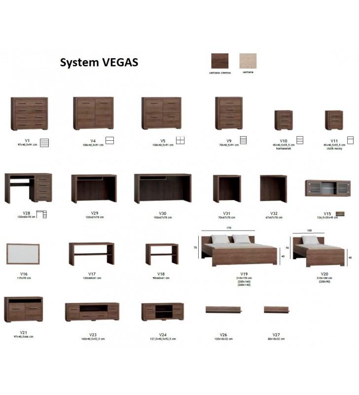 Zestaw mebli w stylu nowoczesnym do sypialni Vegas 2