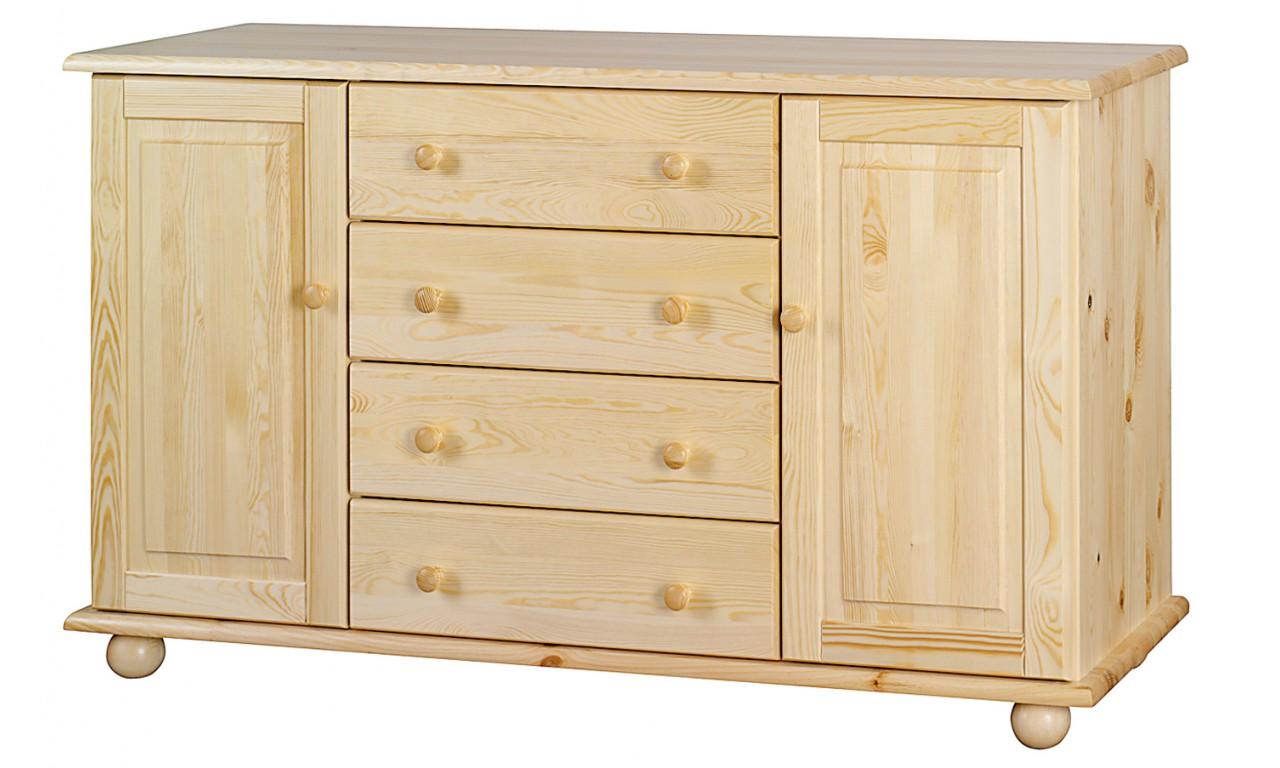 Szeroka komoda ROXANA z drewna sosnowego należąca do kolekcji Classic