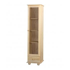 Witryna z drewna sosnowego należąca do kolekcji Classic