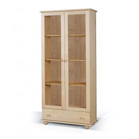 Duża witryna z drewna sosnowego należąca do kolekcji Classic