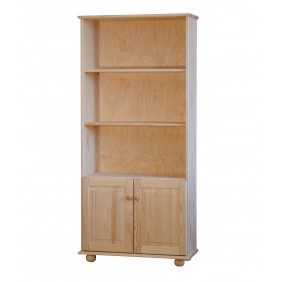 Regał z drzwiczkami z drewna sosnowego należący do kolekcji Classic