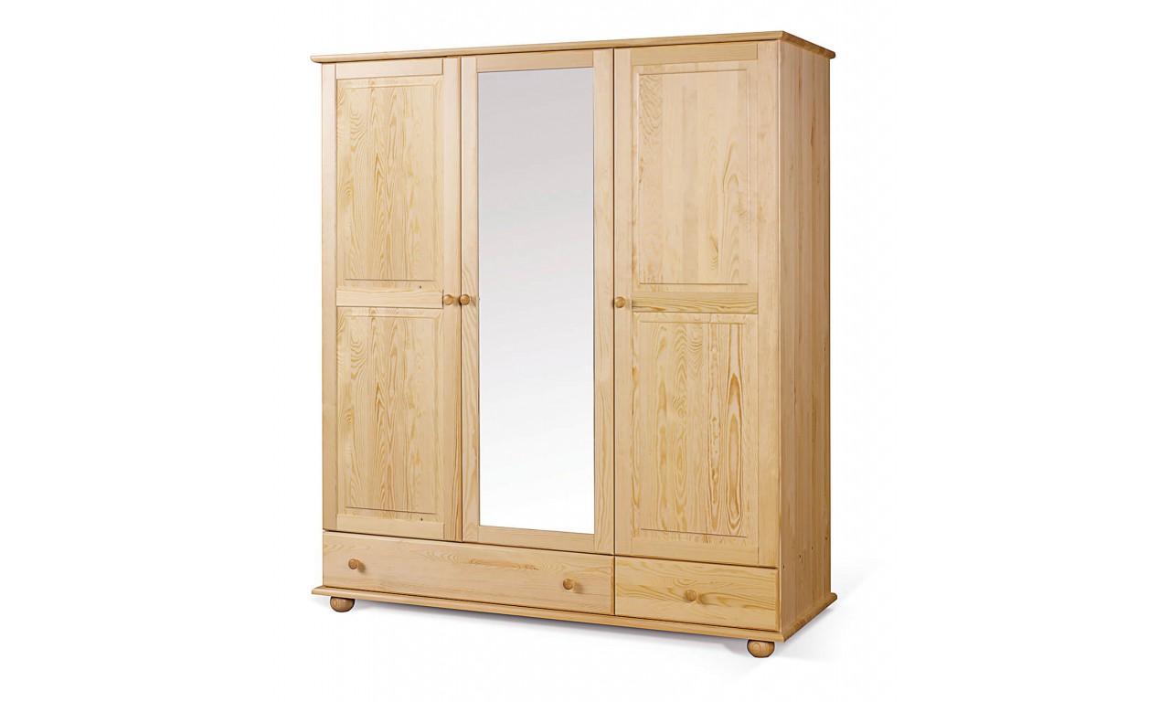Szafa 150 z lustrem z drewna sosnowego należąca do kolekcji Classic