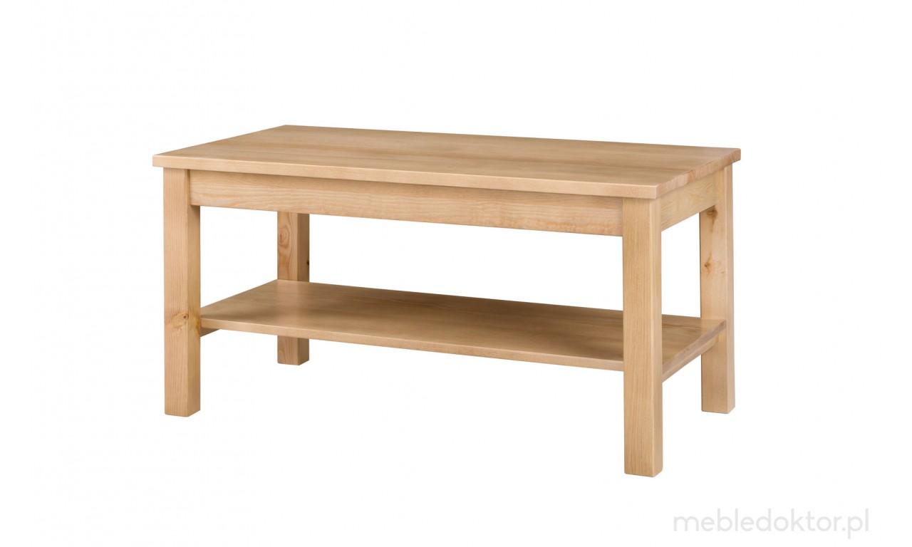 Ława z litego drewna sosnowego należąca do kolekcji Prestige