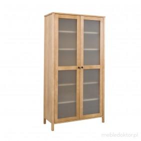 Witryna z litego drewna sosnowego należąca do kolekcji Prestige