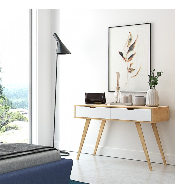 Toaletka należąca do kolekcji Malmo z litego drewna sosnowego