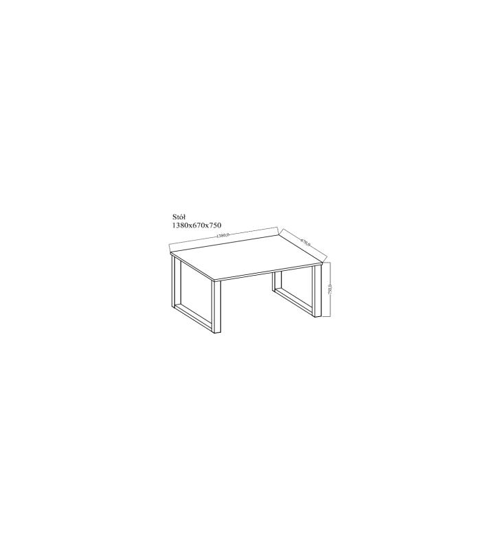 Stół loftowy (138x67) w dwóch odcieniach blatu do wyboru