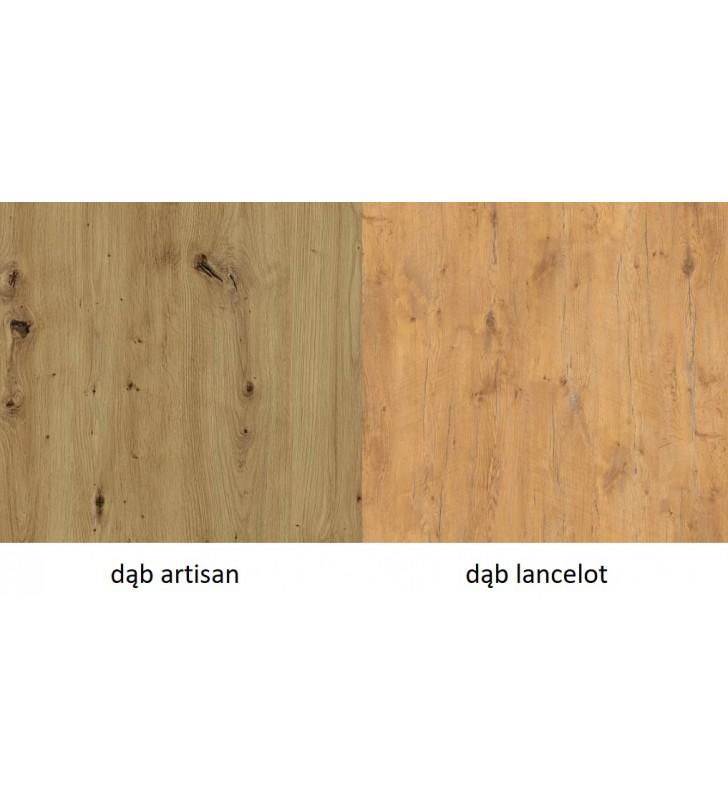 Stół loftowy Imperial (185x67) w dwóch odcieniach blatu do wyboru