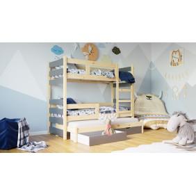 Trzyosobowe łóżeczko z frontami w różnych kolorach KMLK18