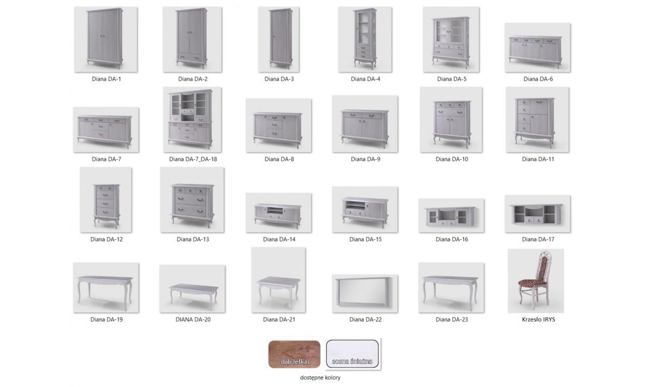 Komoda z szufladami w stylu prowansalskim Diana DA-13