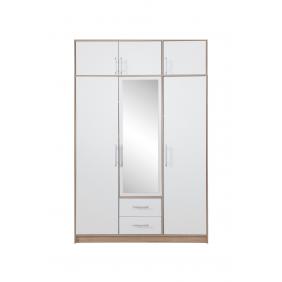 Szafa z białym frontem, lustrem i nadstawką SMART 2