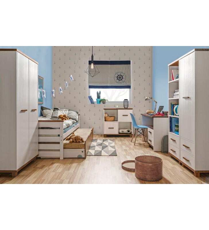 Zestaw mebli do pokoju dziecięcego z drewna sosnowego ALAN B