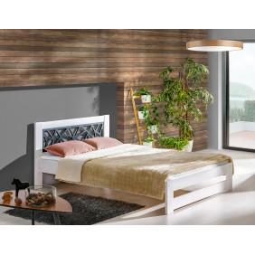 Łóżko (120x200) z drewna sosnowego Kosma