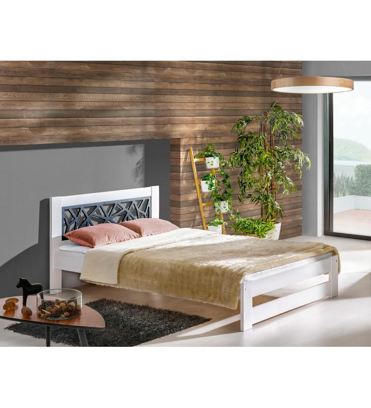 Łóżko (160x200) z drewna sosnowego Kosma