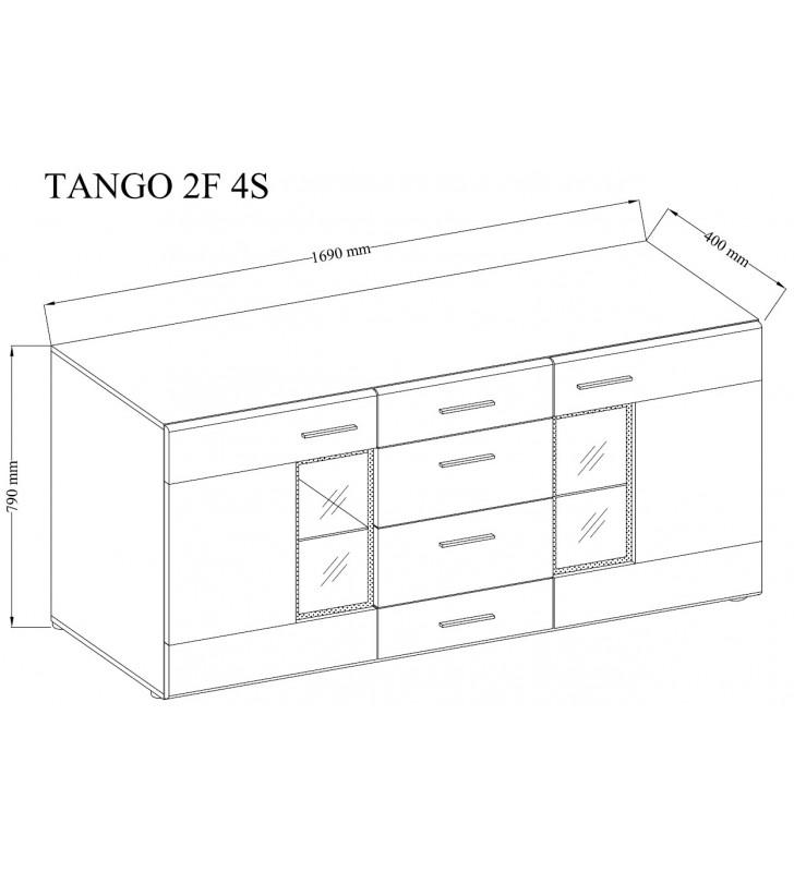 Brązowo-biała komoda TANGO
