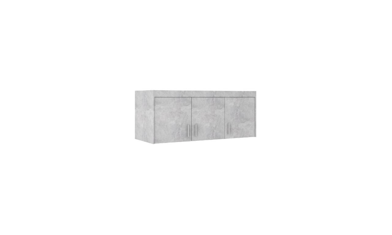 Szara szafa trzydrzwiowa ELENA 3D z dostępną nadstawką
