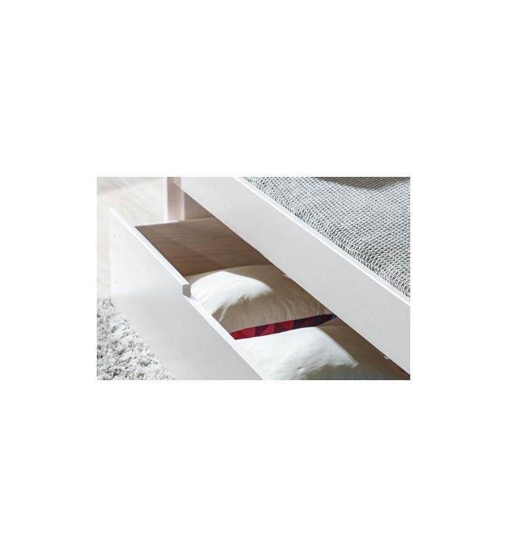 Łóżko dziecięce dwuosobowe z drewna sosnowego w kilku kolorach BORYS B3