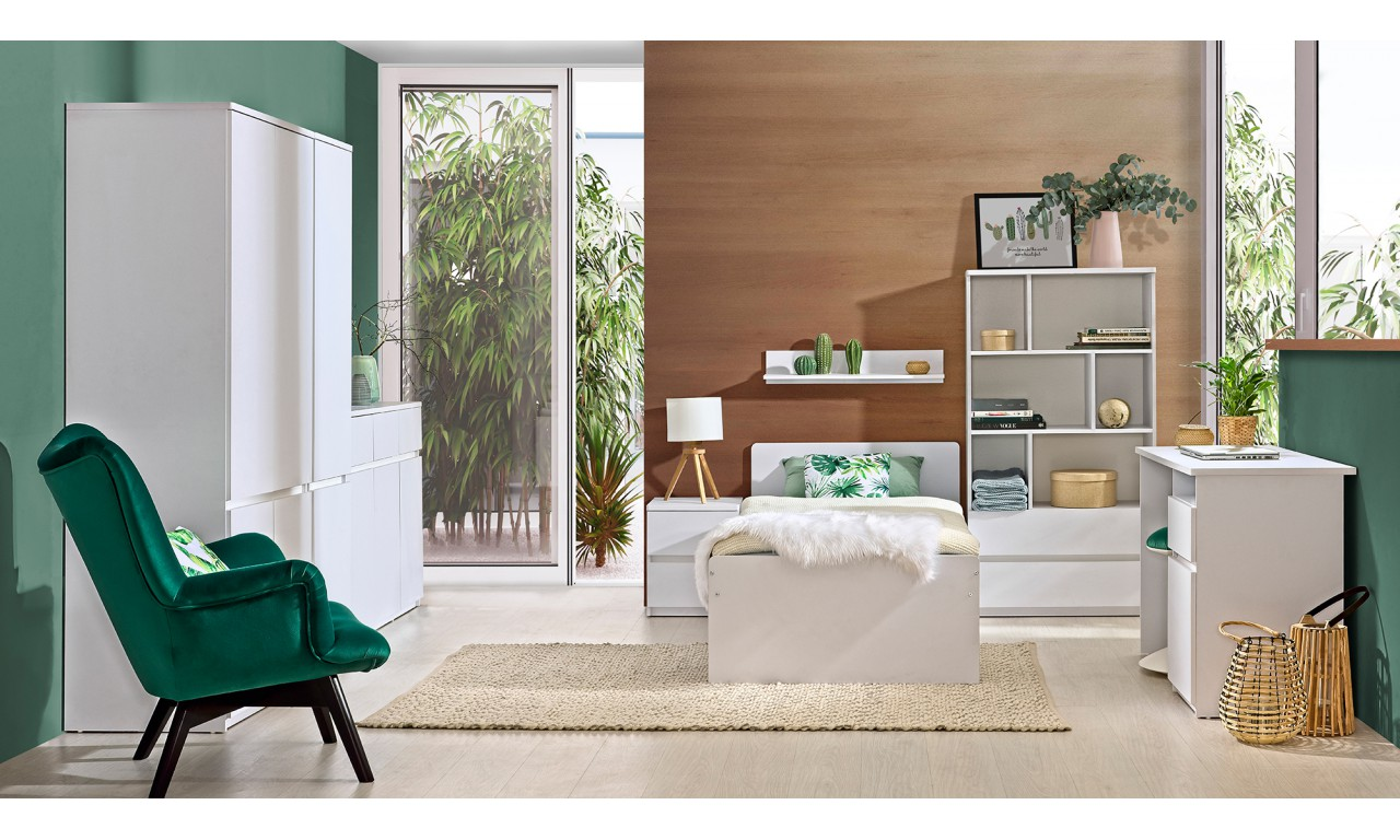 Łóżko w stylu nowoczesnym, dostępne w dwóch propozycjach kolorystycznych ARCA AR9