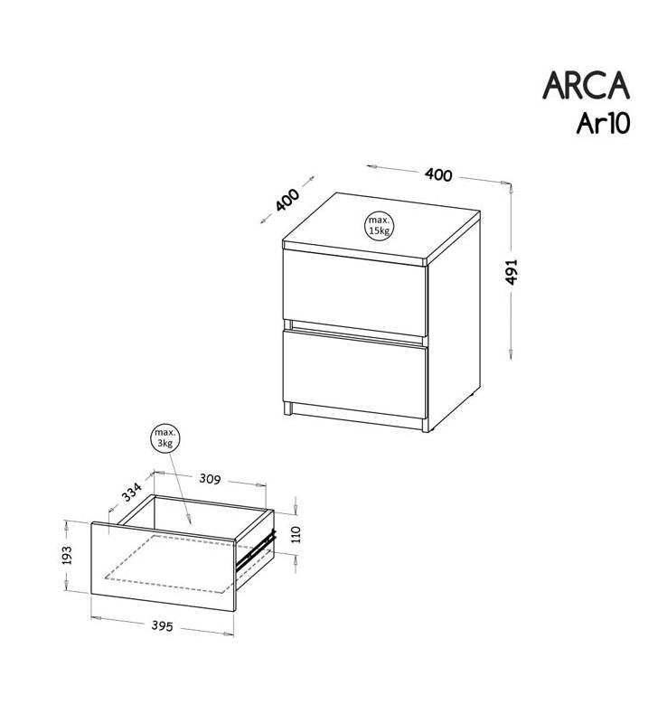 Zestaw mebli do pokoju młodzieżowego, dostępny w dwóch wariantach kolorystycznych ARCA A
