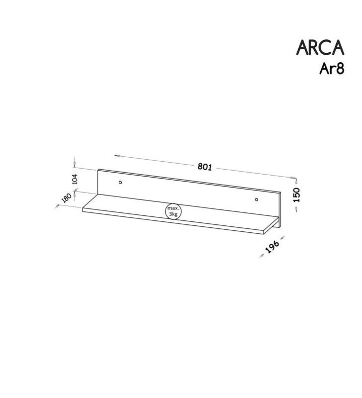Zestaw mebli do pokoju młodzieżowego, dostępny w dwóch wariantach kolorystycznych ARCA C