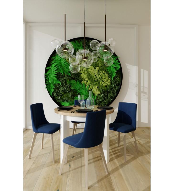 Krzesło bukowe, tapicerowane, KT61