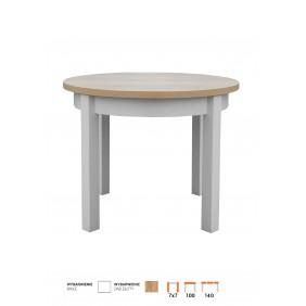 Stół bukowy (śr.100), rozkładany, dowolna kolorystyka, STL102/1