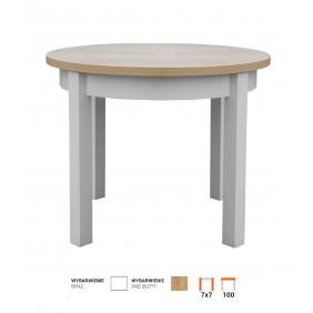 Stół bukowy (śr.100), dowolna kolorystyka, STL102
