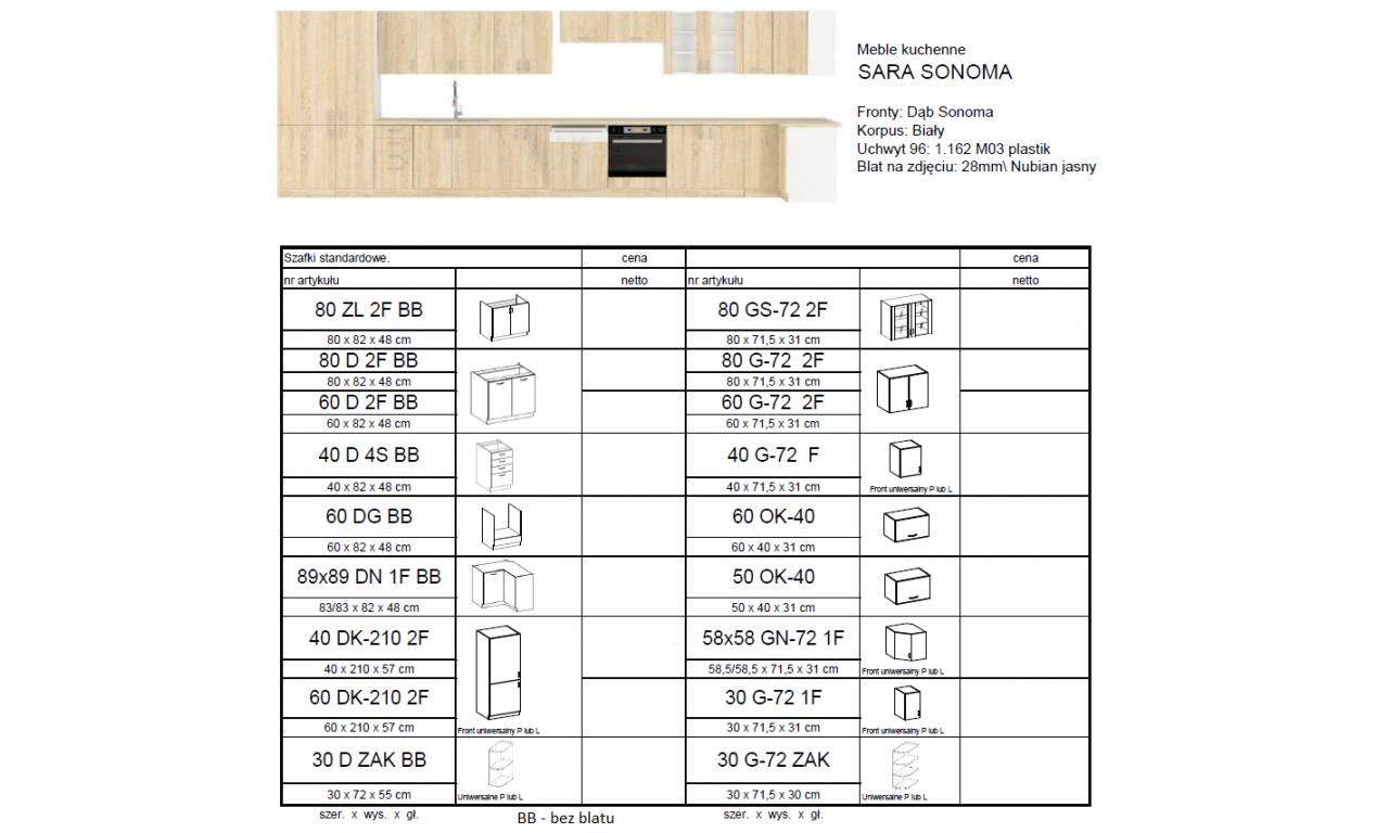 Szafka stojąca SARA SONOMA 60 DK-210 2F