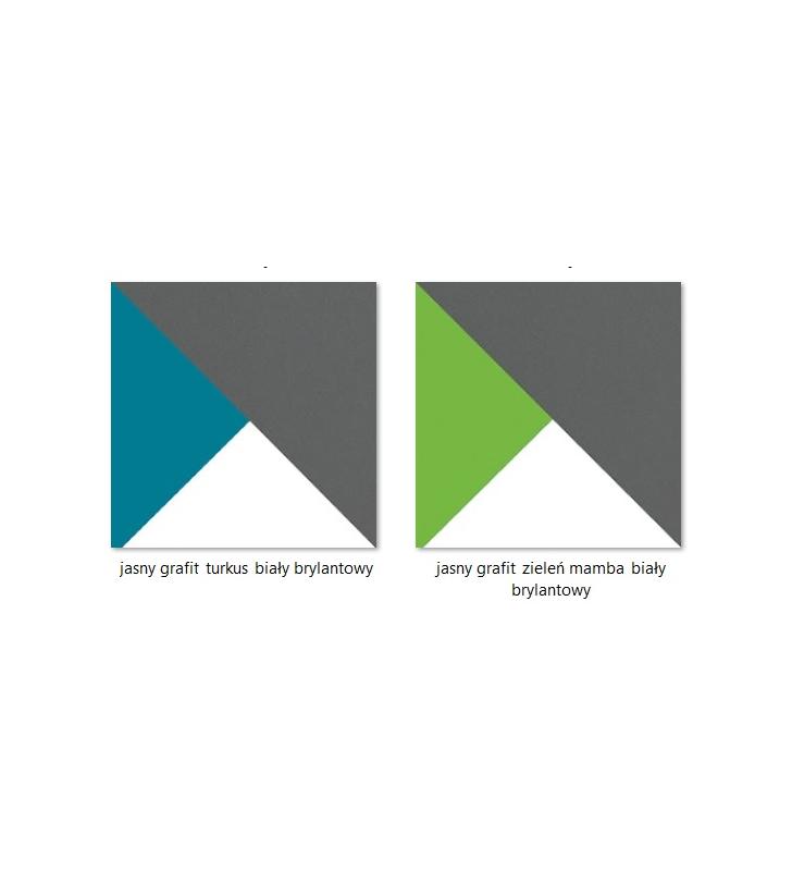 Regał półotwarty w różnych kombinacjach kolorystycznych FUTURO F2